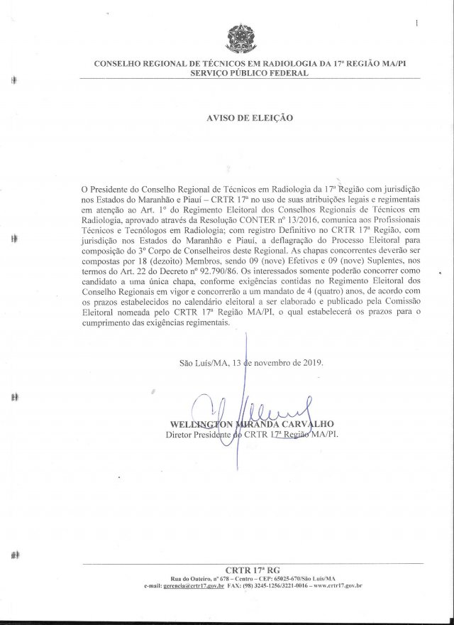 DOCUMENTO DE VOTACAO